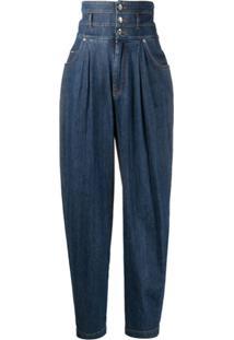 Dolce & Gabbana Calça Jeans Cenoura Com Cintura Alta - Azul