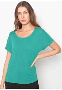 Blusa Com Recorte- Verde- Seduã§Ã£O Dressseduã§Ã£O Dress