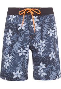Bermuda Masculina Board Short Floresta - Azul