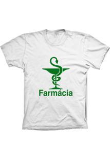 Camiseta Lu Geek Manga Curta Farmácia Branco