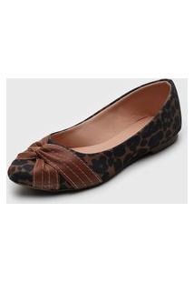 Sapatilha Dafiti Shoes Onça Marrom