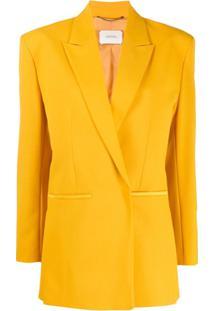 Dorothee Schumacher Boxy Fit Structured Shoulder Blazer - Amarelo