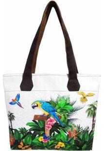 Bolsa Tropical Feminina Araras Magicc - Feminino-Estampado