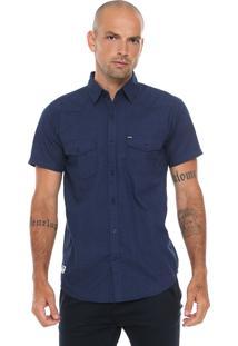 Camisa Fatal Reta Estampada Azul
