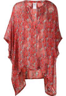 Zadig&Voltaire Blusa Com Estampa Paisley - Vermelho