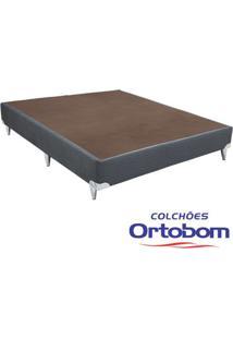 Box Casal - Camurça Cinza - Ortobom - 128X188X23