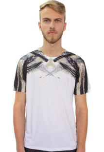 Camiseta Klauk Manchas Ombro Preto