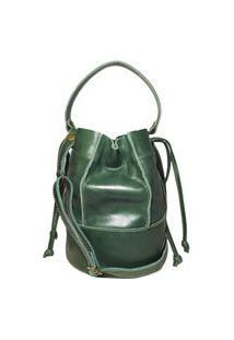 Bolsa Pequena De Couro - Ref 305 Verde Musgo