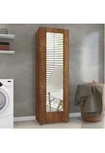 Sapateira Com Espelho 1 Porta 4 Prateleiras Atena Mavaular Canion