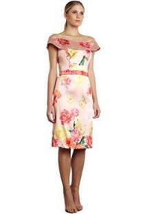 Vestido Curto Izadora Lima Brand Em Zibeline Feminino - Feminino-Rosa Claro
