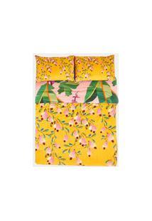 Edredom Estampado Pink Caju - Multicolorido - U