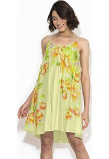 Vestido Curto Floral Tamarama Verde