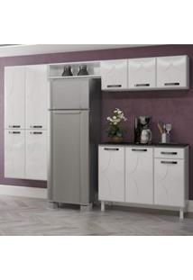 Cozinha Compacta 4 Peças 10 Portas Rubi Siena Móveis