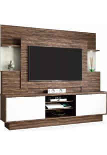 Estante Para Tv De Até 55 Polegadas, Cacau Com Off White, Belize Wood Ii
