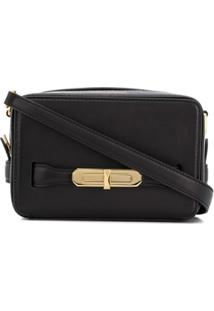 Alexander Mcqueen Plaque Detail Cross Body Bag - Preto