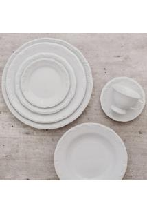 Aparelho De Jantar E Chá Porcelana Schmidt 30 Peças. - Mod. Pomerode