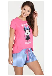 Pijama Feminino Short Doll Estampa Minnie Disney