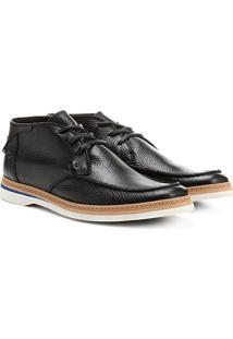 Bota Couro Cano Curto Shoestock Casual - Masculino