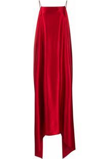 Bernadette Vestido Longo Assimétrico - Vermelho