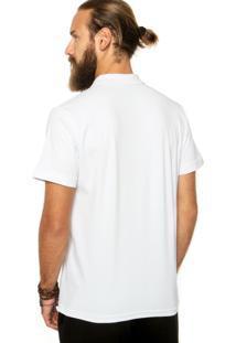 Camisa Polo Red Nose Logo Branca