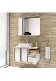 Conjunto Para Banheiro Blanc 80 Balcony Não Acompanha Torneira Artico/Cabernet