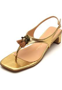 Sandália Luiza Barcelos Tassels Dourada