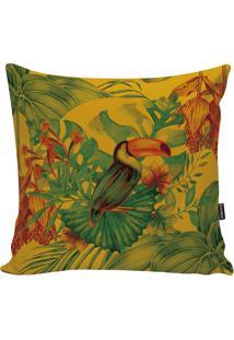 Capa De Almofada Fauna- Amarela & Verde- 45X45Cmstm Home