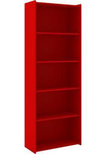Estante Biblioteca- Vermelha- 182X70X30Cm- Movelmovel Bento