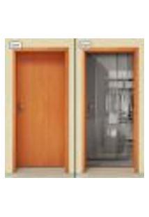 Adesivo Decorativo De Porta - Closet - Armário - 1133Cnpt