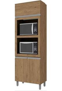 Paneleiro Torre Quente 3 Portas Com Espaço Para Microondas Integra Rústico - Henn