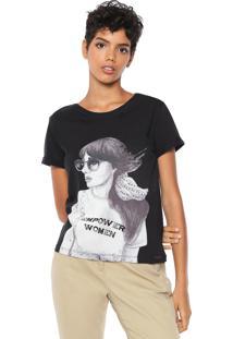 Camiseta Dzarm Women Preta