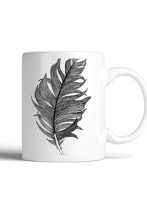 Caneca Decohouse Feather Preto