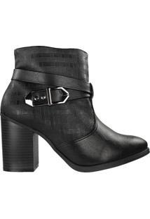 Bota Ramarim Ankle Boot Feminina Preto - 38