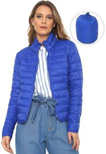 Jaqueta Puffer Only Lisa Pocketable Azul