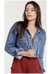 Jaqueta Feminina Jeans Destroyed Biotipo