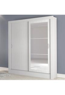 Guarda-Roupa Casal Bavaria 2 Portas 2 Gavetas Flex Branco Brilho/3D Branco Brilho - Atualle Móveis