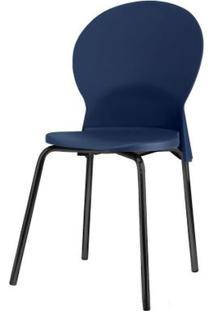 Cadeira Luna Assento Azul Base Preta - 53802 Sun House