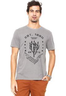 Camiseta Hering Estampada Cinza