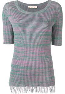 Marni Suéter Com Franjas - Rosa
