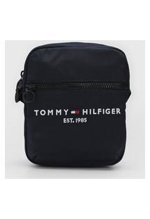 Bolsa Tommy Hilfiger Shoulder Bag Logo Azul-Marinho