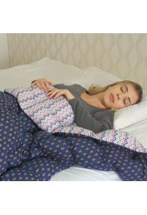 Cobertor Ponderado Artesanal Azul Grande - 2 M X 1.4 M - Teiajubinha