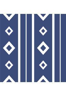 Outlet - 10 Rolos De Papel De Parede Rets Tria Blue 0,58 X 0,58 Metros