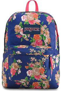 Mochila Jansport Superbreak Paper Floral - Unissex