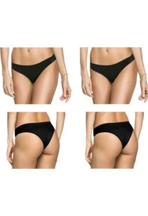 Kit 2 Calcinhas Tanga Preto