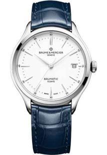 Relógio Baume & Mercier Masculino Couro Azul - M0A10398