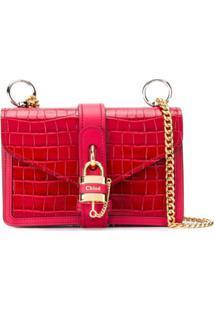 Chloé Bolsa Tiracolo Com Cadeado - Vermelho