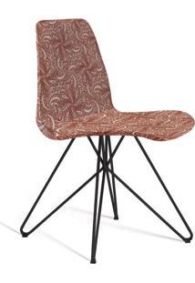 Cadeira De Jantar Eames Butterfly Bege E Marsala