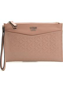 Clutch Guess Monograma Nude