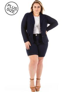 Blazer Jeans Plus Size - Confidencial Extra Slin Plus Size