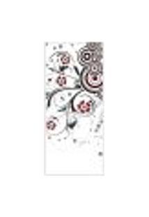 Adesivo Decorativo De Porta - Floral - Flores - 674Cnpt Auto Colante
